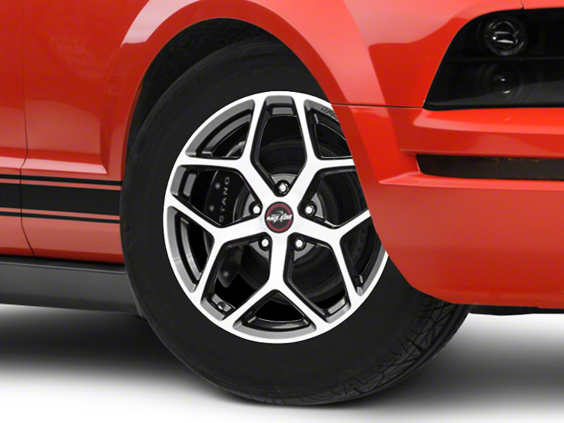 Race Star 95 Recluse Metallic Gray w/ Machined Face Wheel - 17x7 (05-14 All)