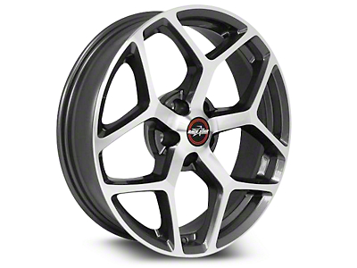 Race Star 95 Recluse Metallic Gray w/ Machined Face Wheel - 17x7 (15-19 GT, EcoBoost, V6)