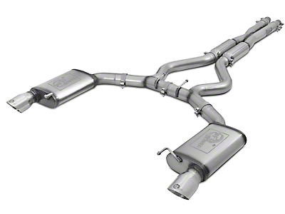 AFE Mach Force XP 3 in. Cat-Back Exhaust w/ Polished Tips - Sport Tone (15-17 GT Fastback)