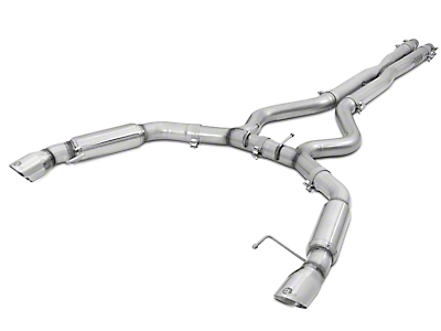 AFE Mach Force XP 3 in. Cat-Back Exhaust w/ Polished Tips - Aggressive Tone (15-17 V6 Fastback)