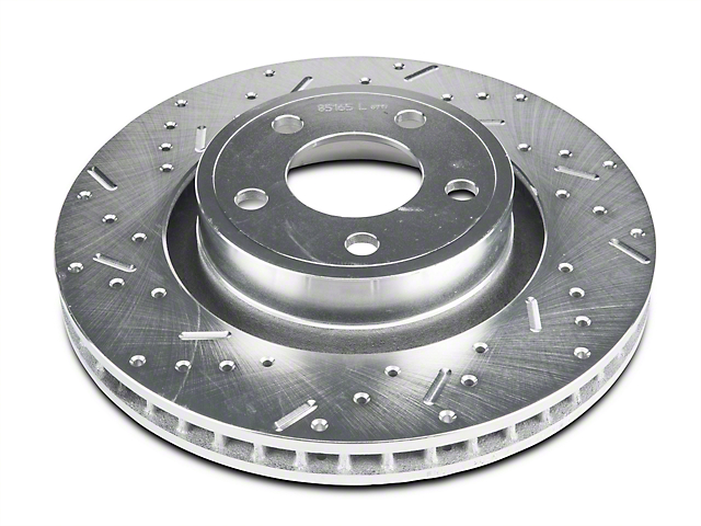 Xtreme Stop Precision Cross-Drilled and Slotted Rotors; Front Pair (15-20 Standard EcoBoost, V6)