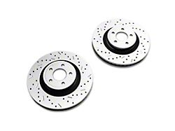 Xtreme Stop Precision Cross-Drilled and Slotted Rotors; Front Pair (15-20 Standard GT, EcoBoost w/ Performance Pack)
