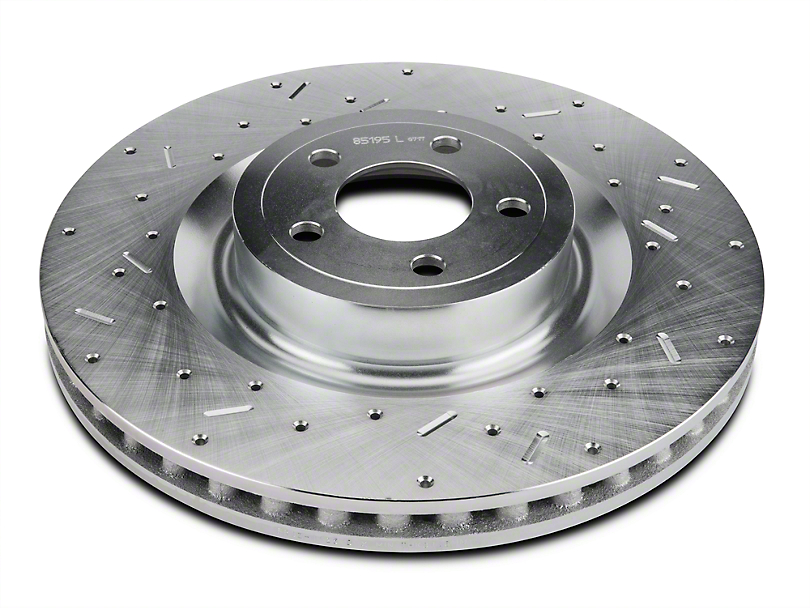 Xtreme Stop Precision Cross-Drilled & Slotted Rotors - Front Pair (15-19 GT w/ Performance Pack)
