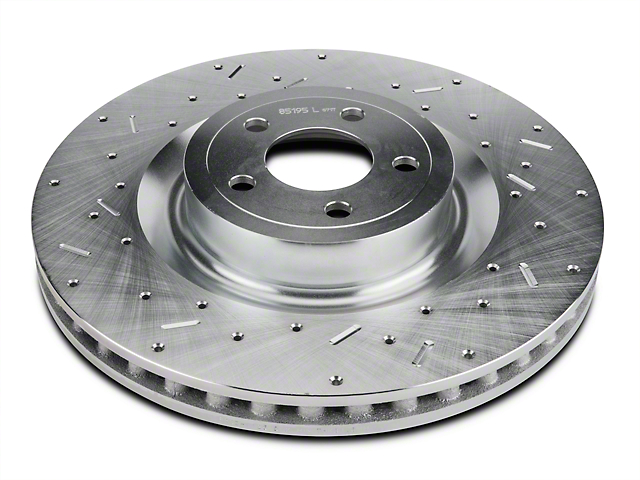 Xtreme Stop Precision Cross-Drilled and Slotted Rotors; Front Pair (15-20 GT w/ Performance Pack)