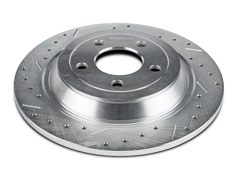 Xtreme Stop Precision Cross-Drilled & Slotted Rotors - Rear Pair (15-20 Standard GT, Standard EcoBoost, V6)
