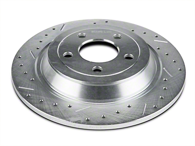 Xtreme Stop Precision Cross-Drilled & Slotted Rotors - Rear Pair (15-18 Standard GT, Standard EcoBoost, V6)