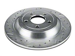 Xtreme Stop Precision Cross-Drilled and Slotted Rotors; Rear Pair (15-20 Standard GT, Standard EcoBoost, V6)