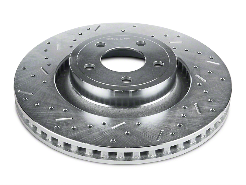 Xtreme Stop Precision Cross-Drilled & Slotted Rotors - Rear Pair (15-20 GT & EcoBoost w/ Performance Pack)