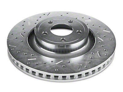 Xtreme Stop Precision Cross-Drilled & Slotted Rotors - Rear Pair (15-19 GT & EcoBoost w/ Performance Pack)