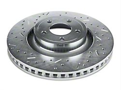 Xtreme Stop Precision Cross-Drilled and Slotted Rotors; Rear Pair (15-20 GT w/ Performance Pack, EcoBoost w/ Performance Pack)