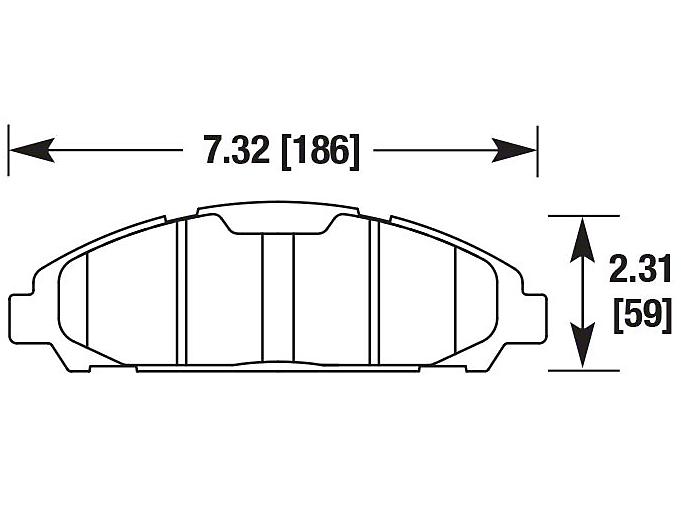 DBA SP500 Street Performance Brake Pads - Front Pair (05-14 Standard GT, V6)