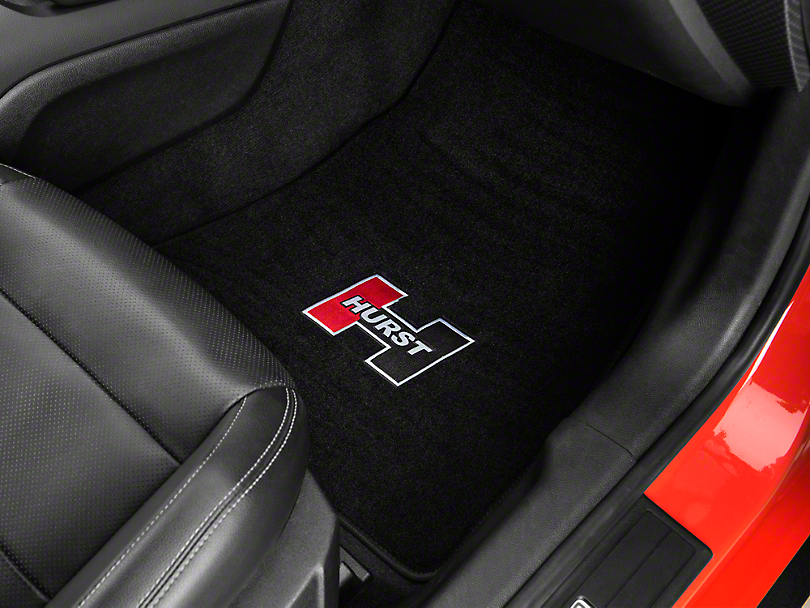 Hurst Front & Rear Floor Mats w/ Red Hurst Logo - Black (15-17 All)