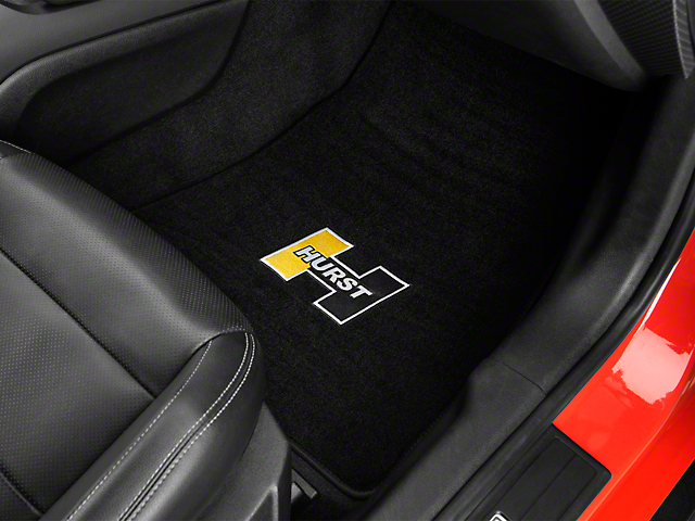 Hurst Front & Rear Floor Mats w/ Gold Hurst Logo - Black (15-19 All)