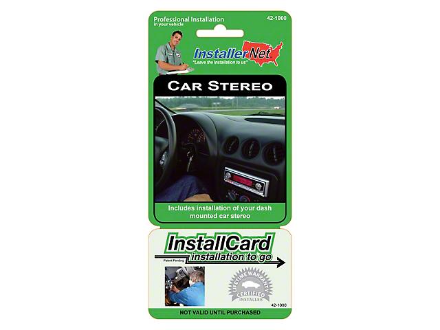 InstallerNet Stereo Installation Service