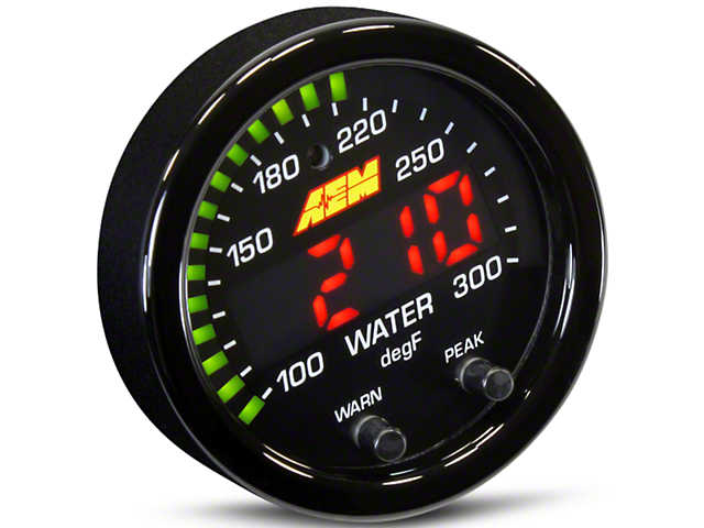 AEM Electronics X-Series Temperature Gauge - Electrical (79-17 All)