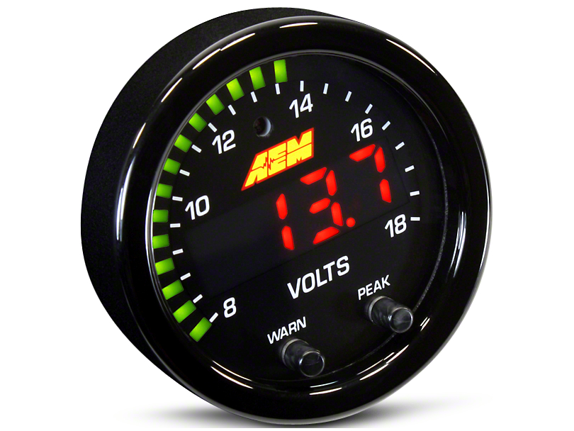 AEM Electronics X-Series Voltmeter Gauge - Electrical (79-19 All)