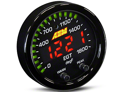 AEM Electronics X-Series Exhaust Temperature Gauge - Electrical (79-17 All)
