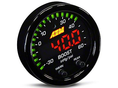 AEM Electronics X-Series Boost Pressure Gauge - Electrical (79-19 All)