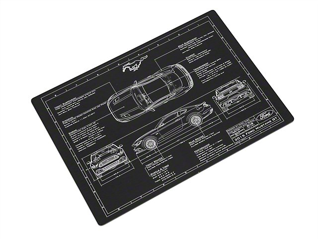 Mustang Blueprint Engraved Plate