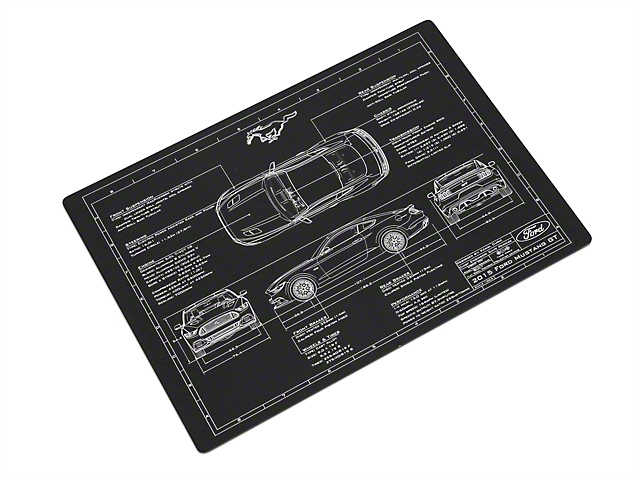 2015 Mustang Blueprint Engraved Plate