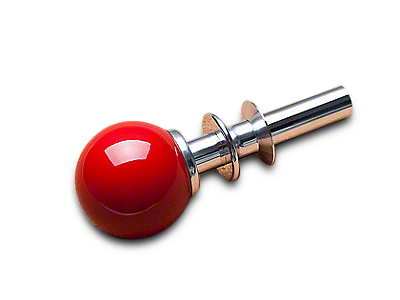 White Madness Go-Baby-Go Automatic Shifter Conversion Kit - Chrome Shaft w/ Race Red Ball (15-17 GT, EcoBoost, V6)