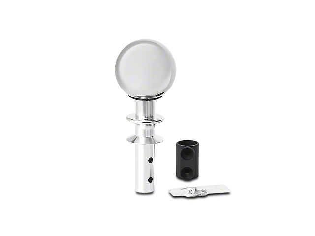 White Madness Go-Baby-Go Automatic Shifter Conversion Kit - Chrome Shaft w/ Ingot Silver Ball (15-18 GT, EcoBoost, V6)