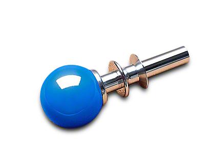 White Madness Go-Baby-Go Automatic Shifter Conversion Kit - Chrome Shaft w/ Grabber Blue Ball (15-17 GT, EcoBoost, V6)