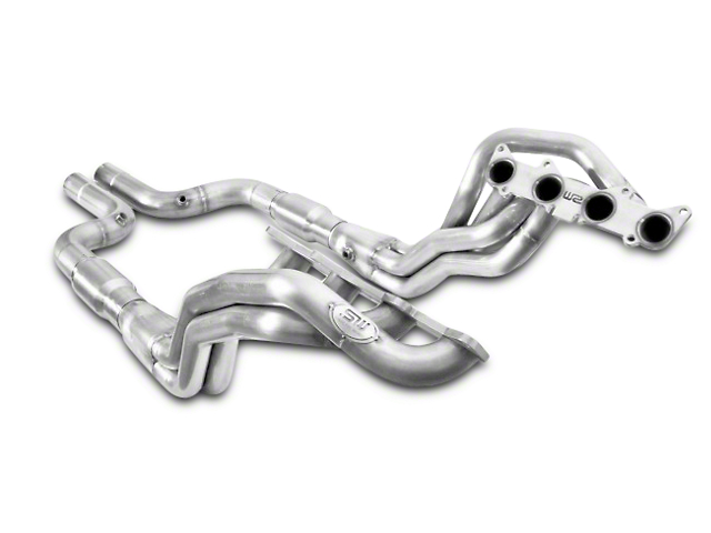 Stainless Works 1-7/8 in. Long Tube Catted Headers - Aftermarket Connect (15-20 GT)