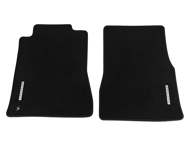 Ford Front Floor Mats with Mustang Logo; Black (05-09 All)