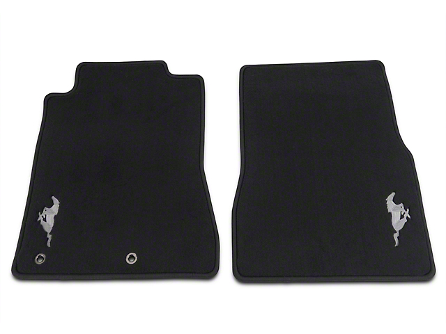 Ford Front Floor Mats w/ Running Pony Logo - Black (2010 All)