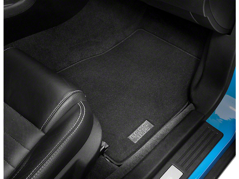 Ford Front Floor Mats w/ Boss 302 Logo - Black (11-12 All)