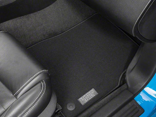 Ford Front Floor Mats w/ Boss 302 Logo - Black (13-14 All)