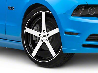 rovos mustang durban brushed black wheel 20x8 5 386955 05 14 all Ford Mustang Valve Stem Caps 1