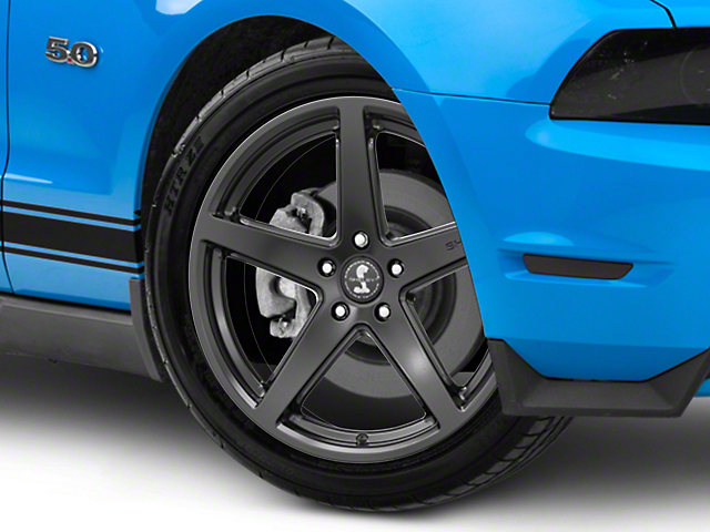 Shelby Style SB201 Satin Black Wheel; 19x9.5 (10-14 All)