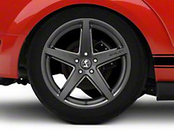 Shelby Style SB201 Satin Black Wheel; Rear Only; 19x10.5 (05-09 All)