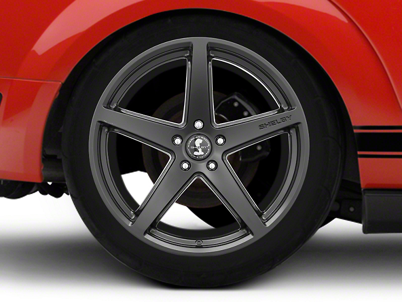 Shelby Style SB201 Satin Black Wheel - 20x10.5 - Rear Only (05-14 All)