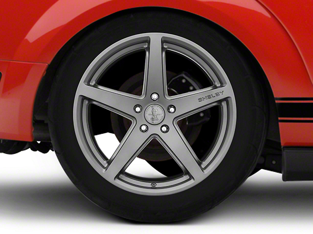 Shelby Style SB201 Charcoal Wheel; Rear Only; 19x10.5 (05-09 All)