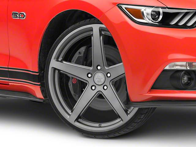 Shelby Style SB201 Charcoal Wheel; 20x9.5 (15-21 GT, EcoBoost, V6)