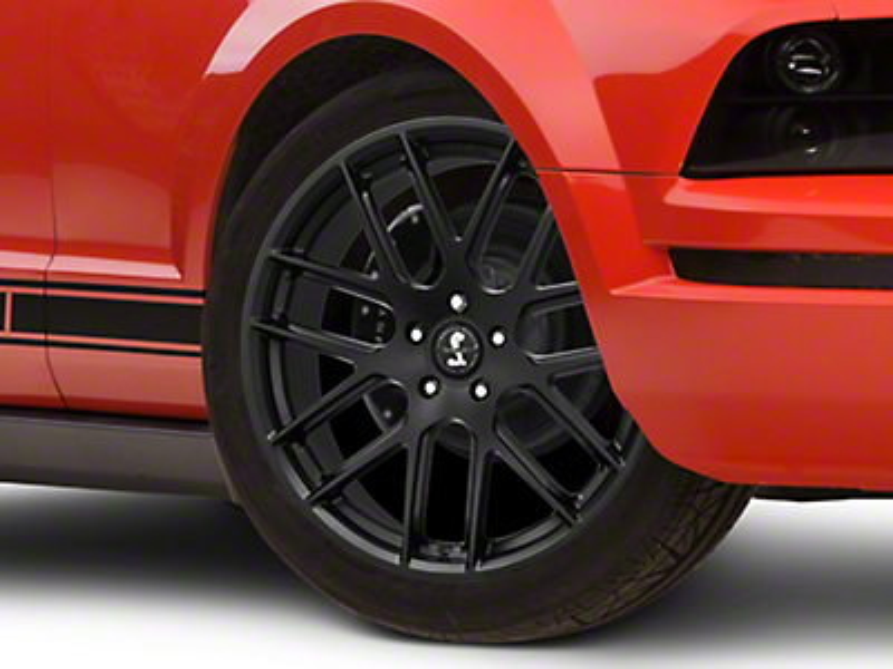 Shelby Style SB202 Satin Black Wheel - 20x9.5 (05-14 All)