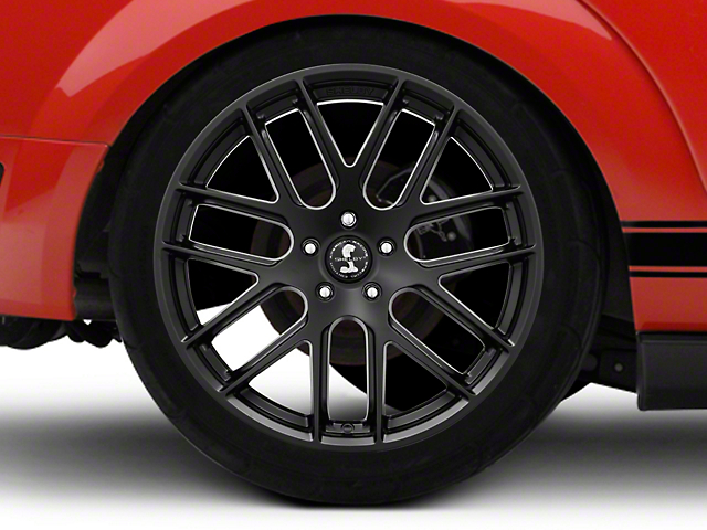 Shelby Style SB202 Satin Black Wheel - 20x10.5 - Rear Only (05-09 All)