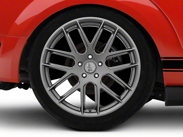 Shelby Style SB202 Charcoal Wheel; Rear Only; 20x10.5 (05-09 All)