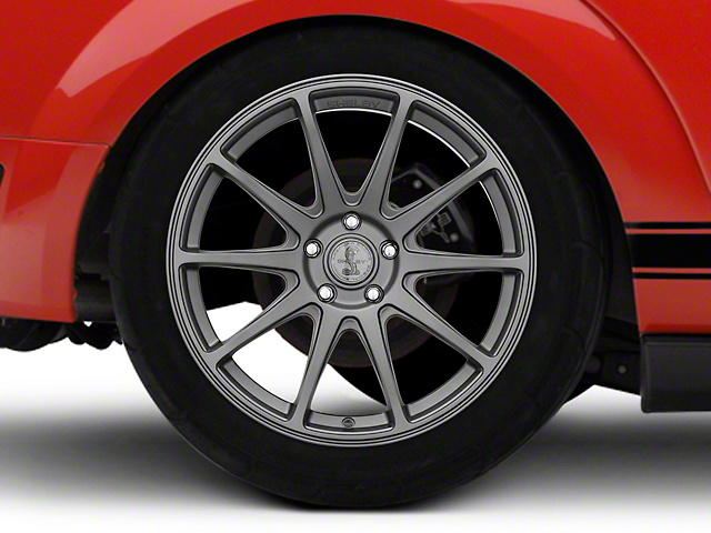 Shelby Style SB203 Charcoal Wheel; Rear Only; 19x10.5 (05-09 All)