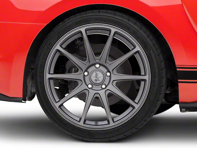 Shelby Style SB203 Charcoal Wheel; Rear Only; 19x10.5 (15-21 GT, EcoBoost, V6)