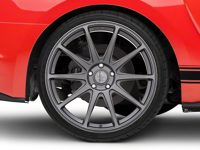 Shelby Style SB203 Charcoal Wheel; Rear Only; 20x10.5 (15-20 GT, EcoBoost, V6)