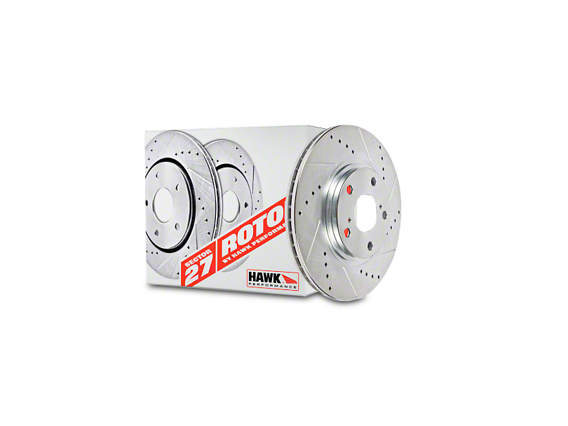 Hawk Performance Sector 27 Rotors & HPS 5.0 Brake Pad Kit - Front (94-04 Cobra, Bullitt, Mach 1)