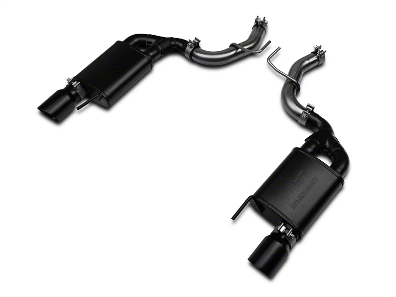 RTR Tactical Performance Street Spec Axle-Back Exhaust w/ Black Tips (15-19 EcoBoost Fastback w/o Active Exhaust)