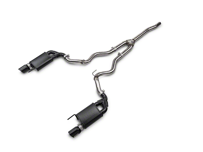 RTR Tactical Performance Street Spec Cat-Back Exhaust w/ Black Tips (15-18 EcoBoost)