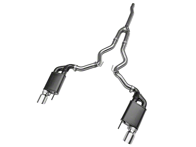 RTR Tactical Performance Street Spec Cat-Back Exhaust w/ Polished Tips (15-19 EcoBoost w/o Active Exhaust)