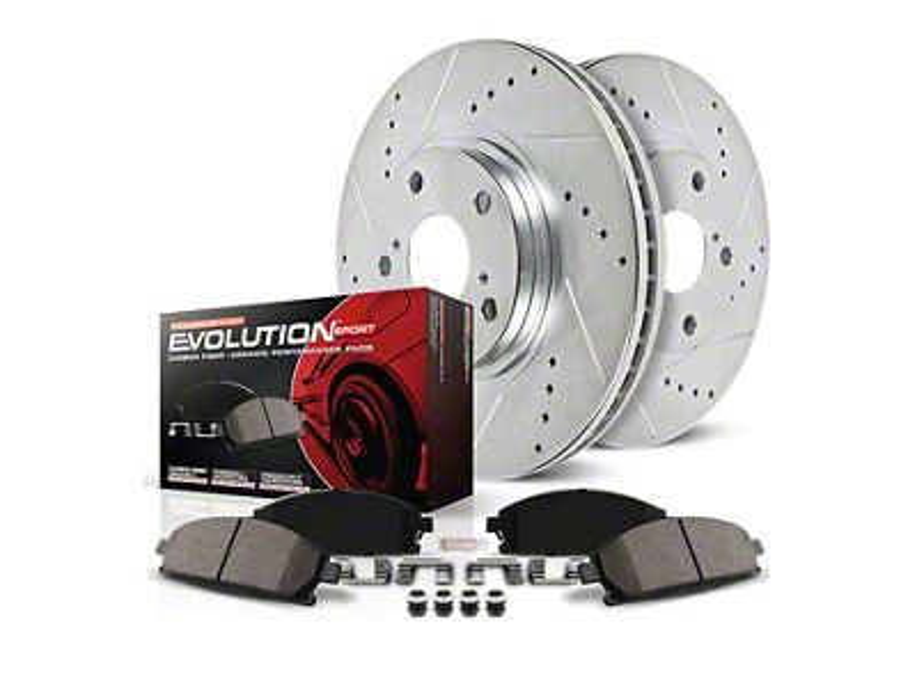 Power Stop Z23 Evolution Sport Brake Rotor & Pad Kit - Front (11-14 GT Brembo; 12-13 BOSS 302; 07-12 GT500)