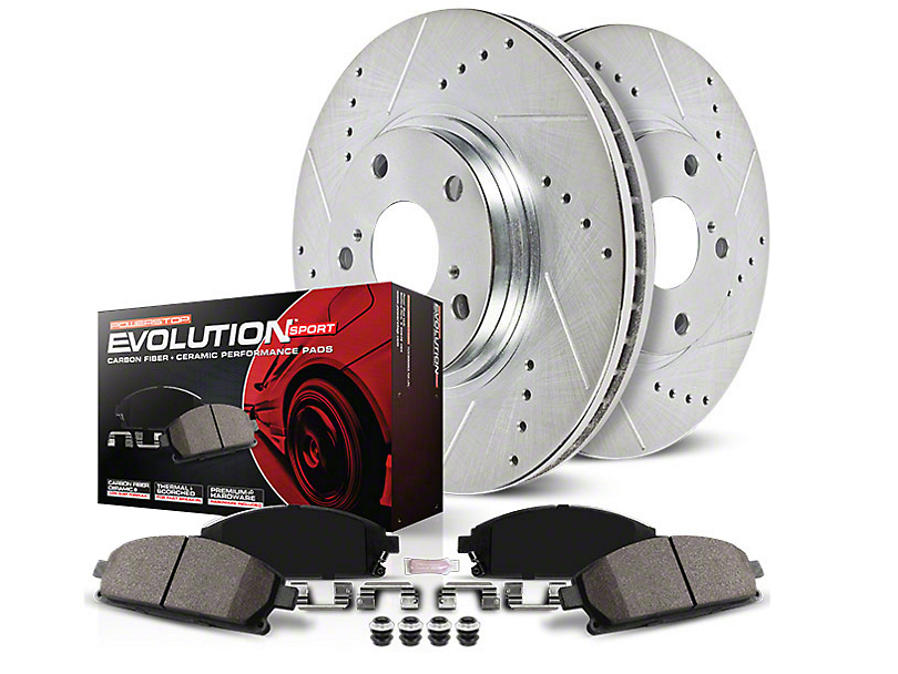 Power Stop Z23 Evolution Sport Brake Rotor & Pad Kit - Front (15-18 V6, Standard EcoBoost)